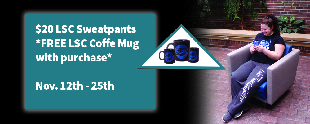 $20 LSC Sweatpants - Free LSC Coffee Mug with purchase