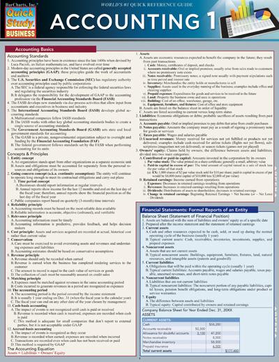 accounting study sheet